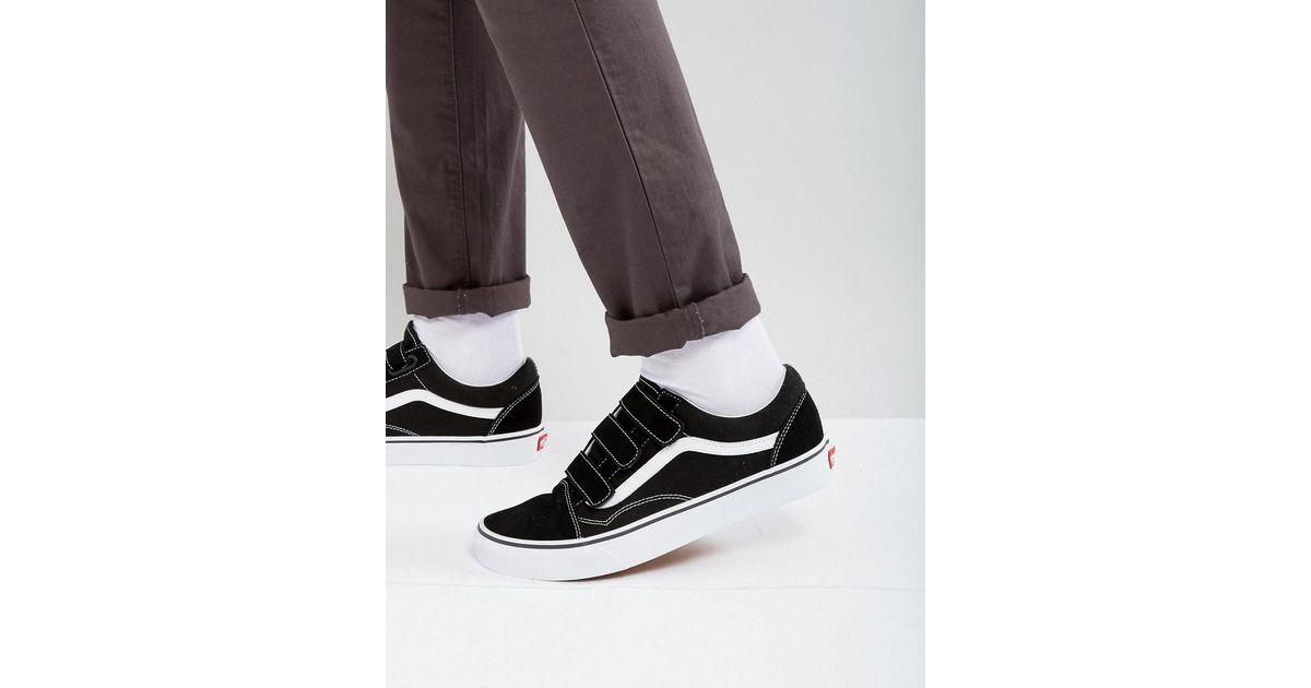 Vans Old Skool Velcro Sneakers In Black