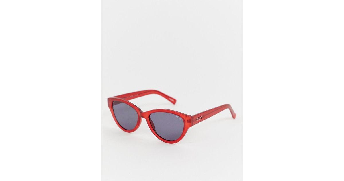 mejor selección 3bcf4 d99a7 Gafas de sol ojos de gato finas Rizzo Quay de color Red