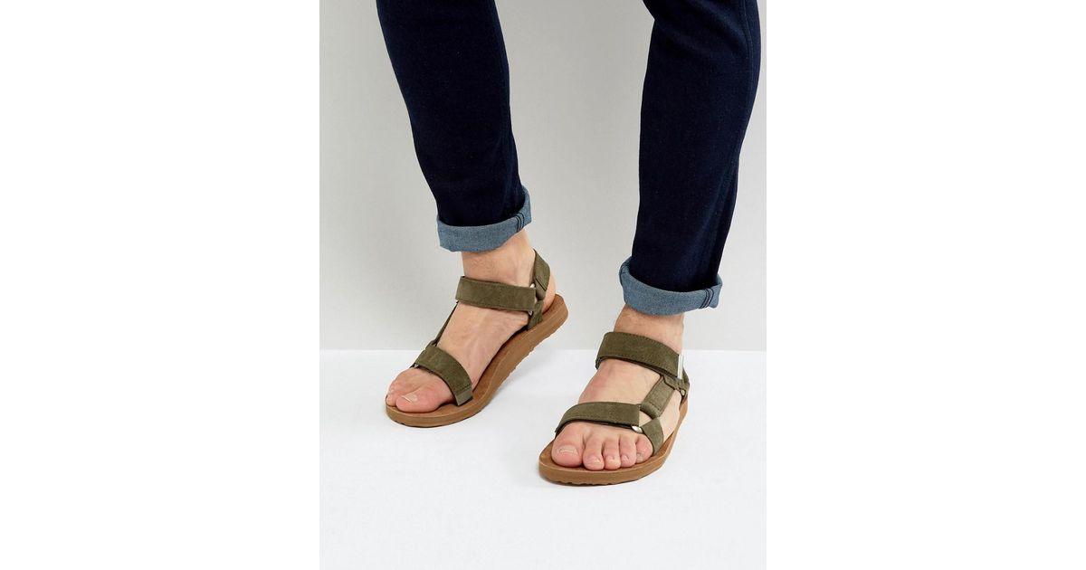 Men Sandals Suede Universal Teva Green Original For xCrBdoe