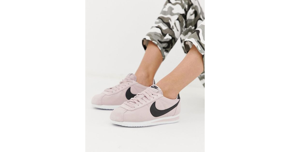 new concept 030dc 3688b Nike Cortez Trainers In Pink Nylon
