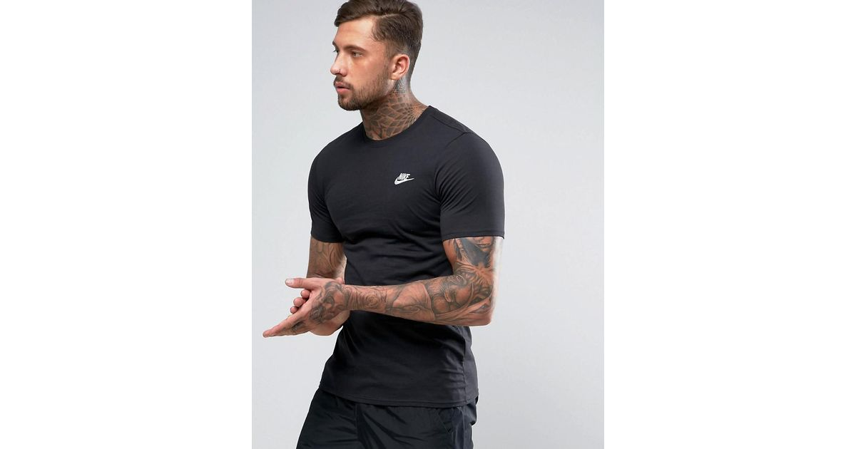 e6835fc4 Nike Club T-shirt With Embroidered Futura Logo In Black 827021-011 in Black  for Men - Lyst