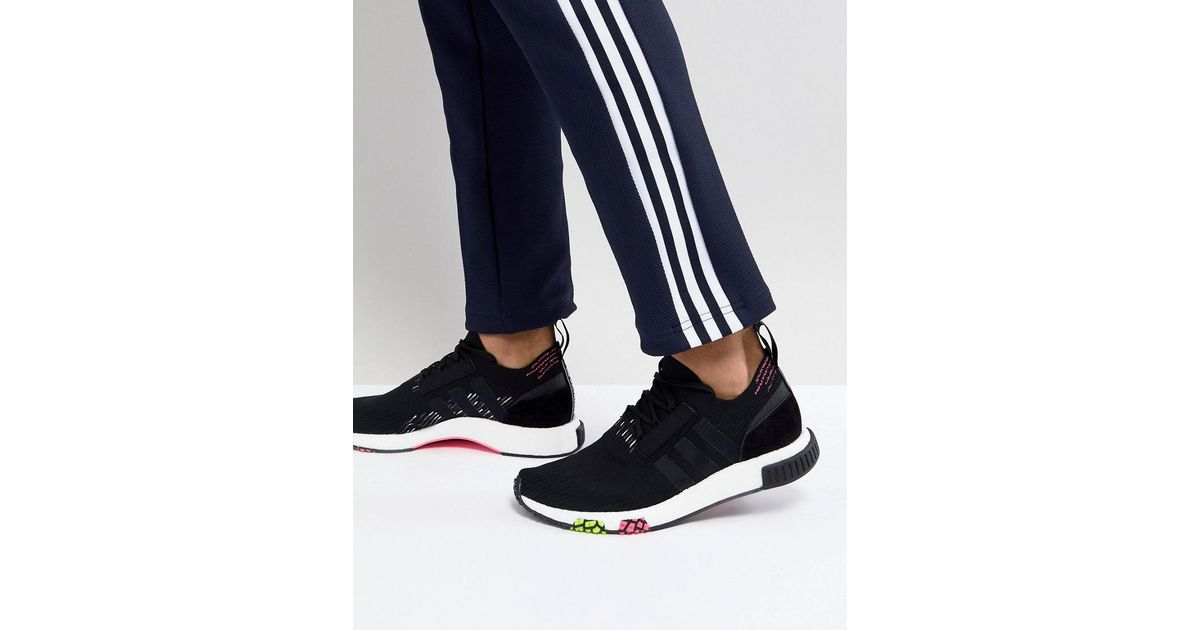 super popular 1f4a1 ebe6d Lyst - adidas Originals Nmd Racer Primeknit Trainers In Black Cq2441 in  Black for Men