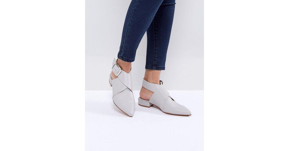 Cuir Asos De Marylebone Tissé Chaussures Plates - Noir Wo7x1C1