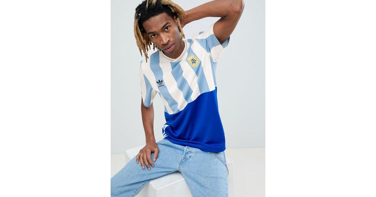 adidas Originals Retro Argentina Football Jersey In Blue Ce3732 ...