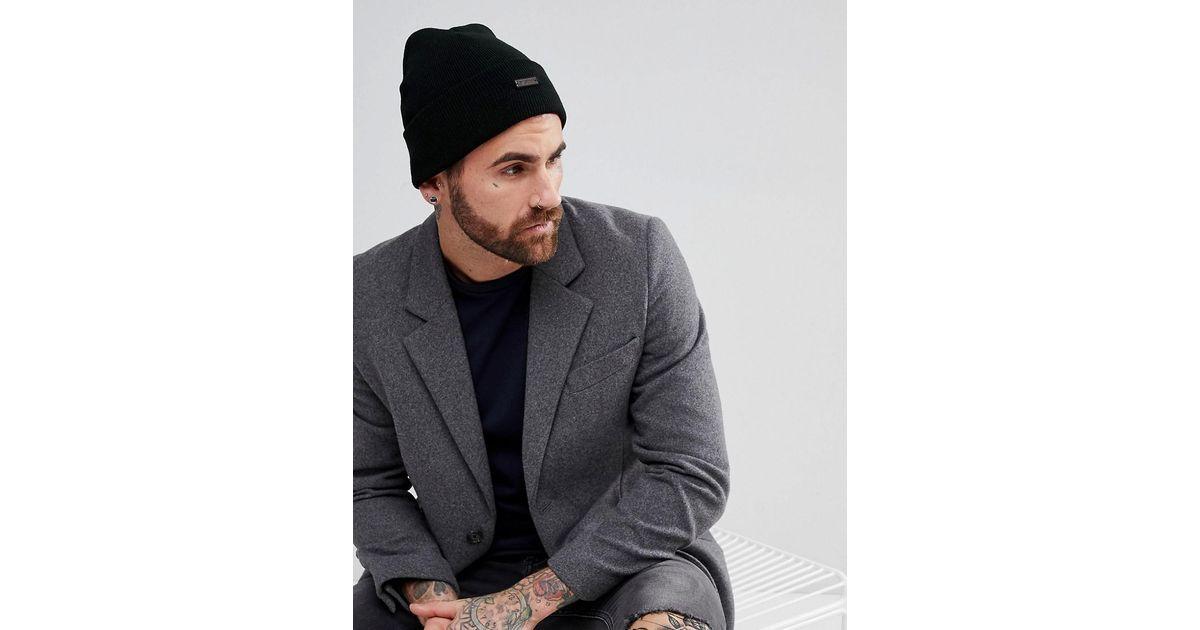 Lyst - Ben Sherman Beanie Hat In Black in Black for Men 5f969db0b84