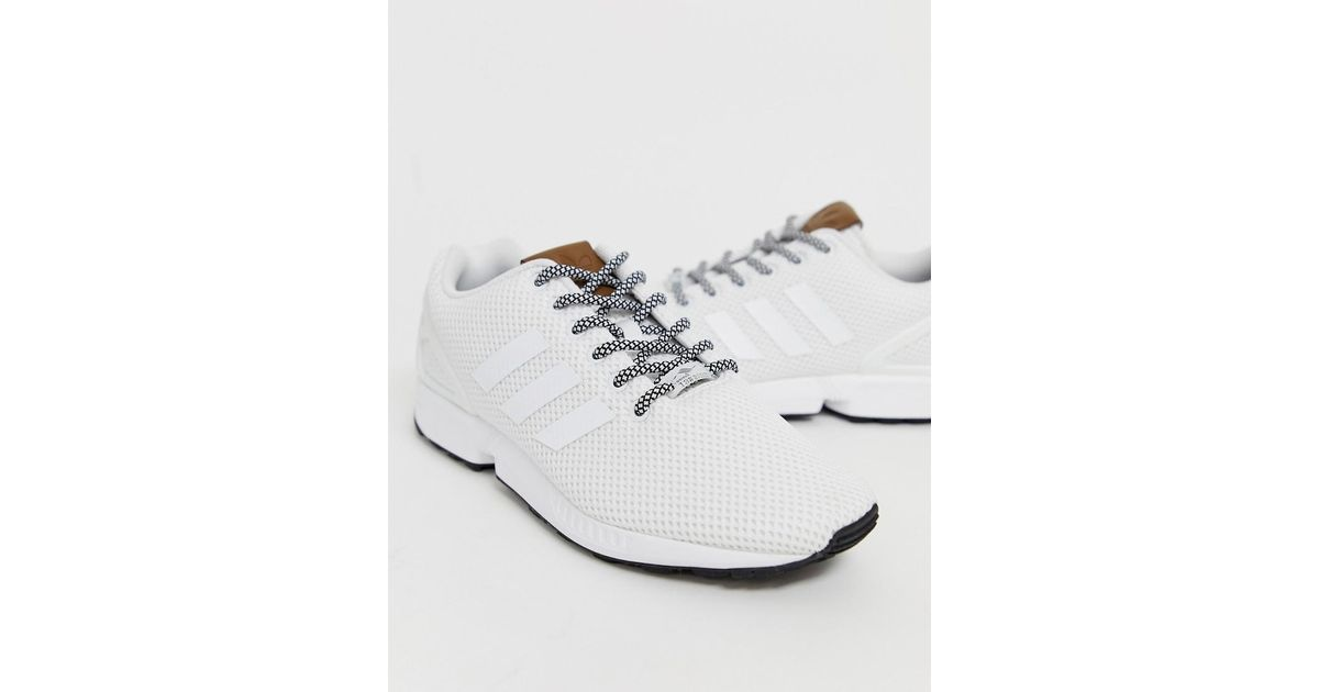 best sneakers 16978 20c2e Adidas Originals Zx Flux Trainers In White for men