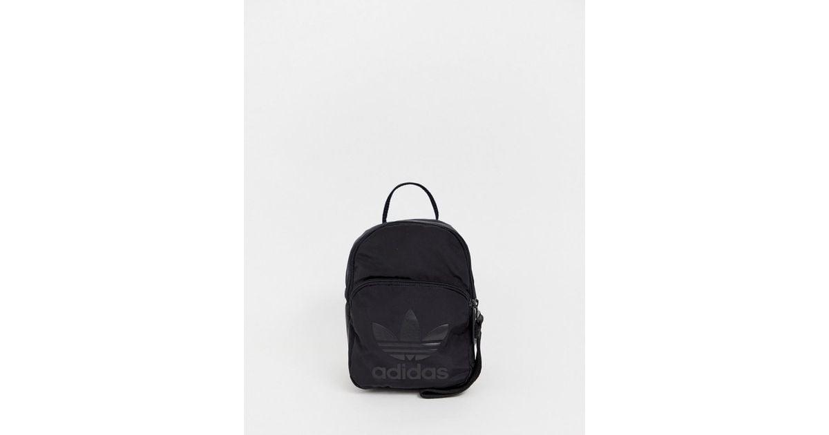 adidas Originals adidas Originals mini backpack in all black Black from ASOS USA   People