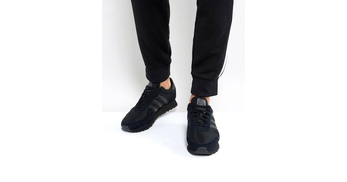 0f4b7f624234ed Adidas Originals Haven Sneakers In Black By9717 in Black for Men - Lyst