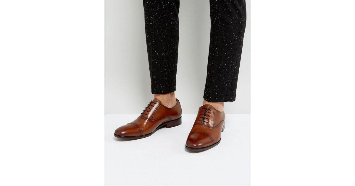 1b957a2f435 Steve Madden Brown Herbert Oxford Shoes In Tan for men