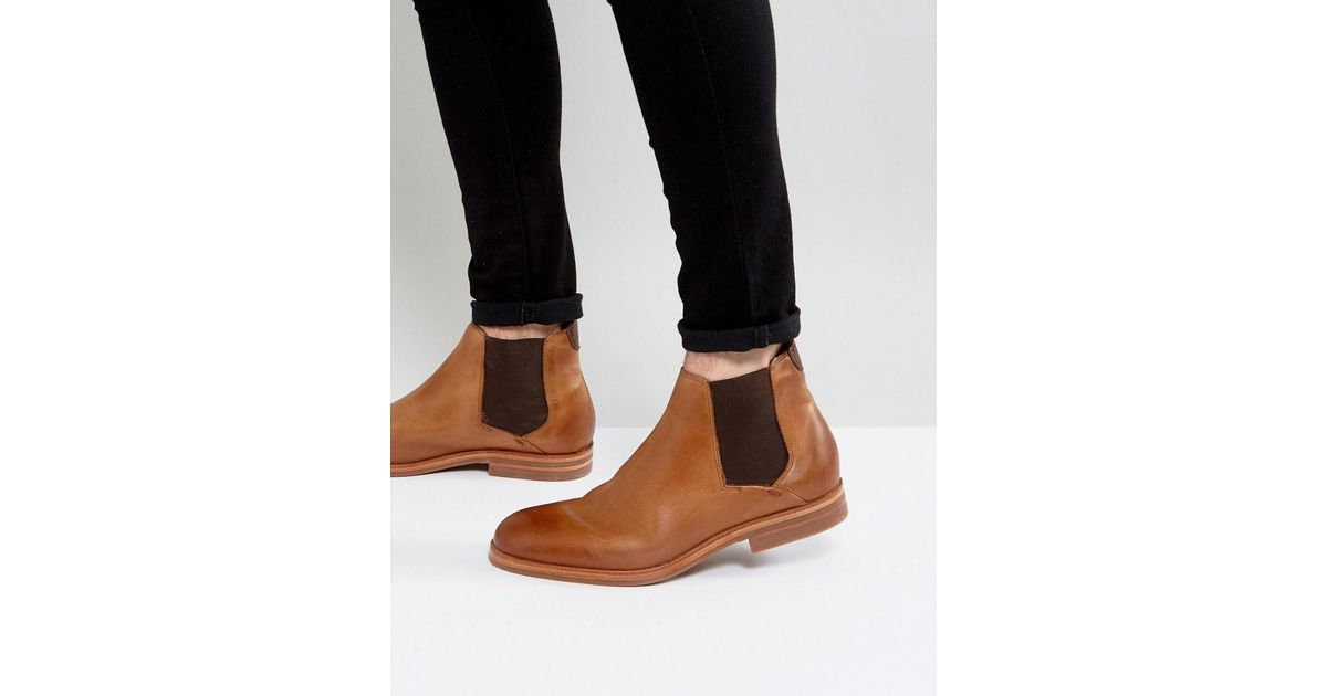 H by Hudson Tonti Leather Chelsea Boots