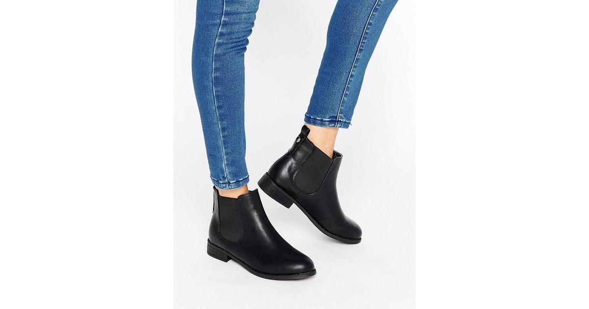 7db2870855d Park Lane Black Flat Chelsea Boots