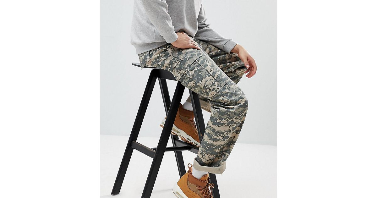 e20b48b69a2 Reclaimed (vintage) Revived Camo Cargo Pants In Khaki in Green for Men -  Lyst