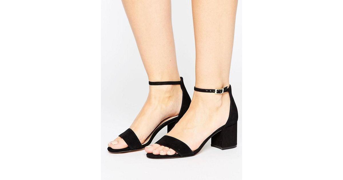 92513b12101 Lyst - ALDO Villarosa Leather Block Heel Sandals in Black