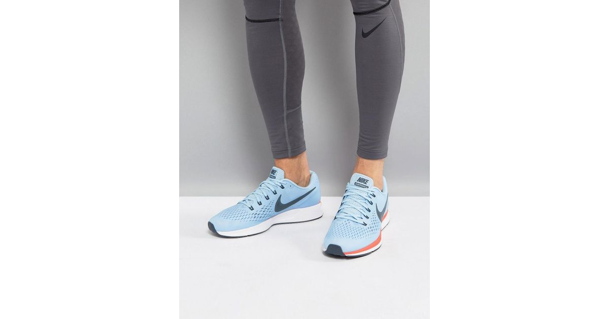 huge selection of 9a8f0 6f904 Nike Air Zoom Pegasus 34 Trainers In Blue 880555-404