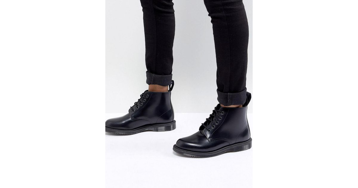 558f523705b Dr. Martens Black Emmeline Refined Lace Up Leather Boot