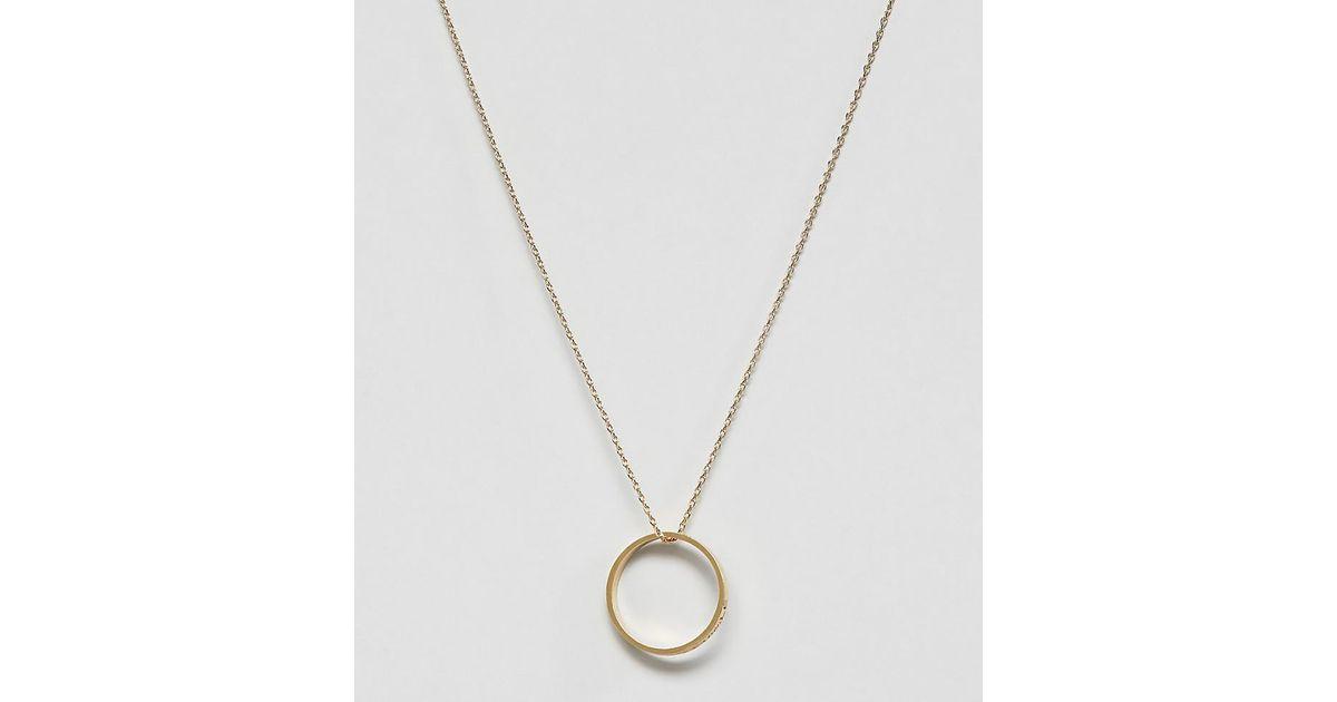 1e29974f5 Orelia Gold Plated Future Is Female Ring Pendant Necklace in Metallic - Lyst