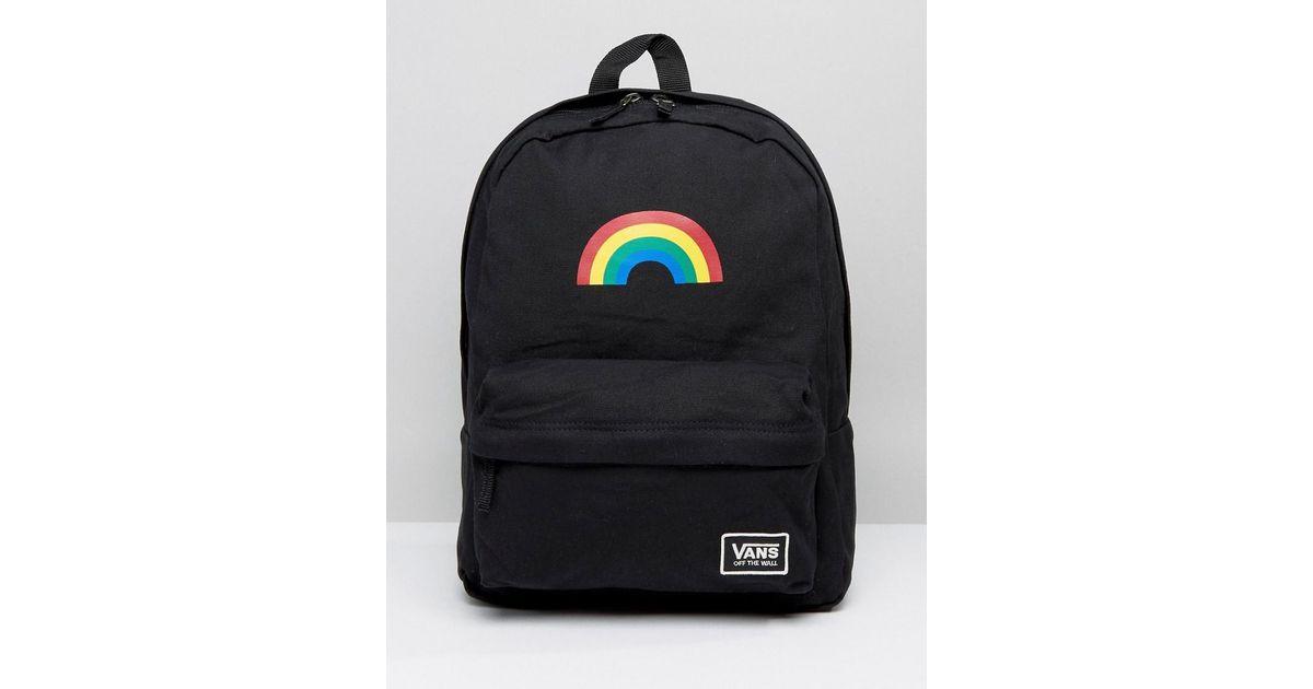 2ff0cbcbf758 Vans Rainbow Backpack In Black in Black - Lyst