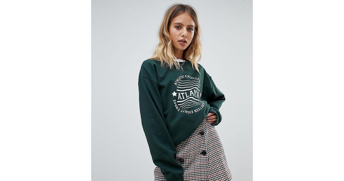 fa1a5e158f Daisy Street Green Atlanta Sweatshirt