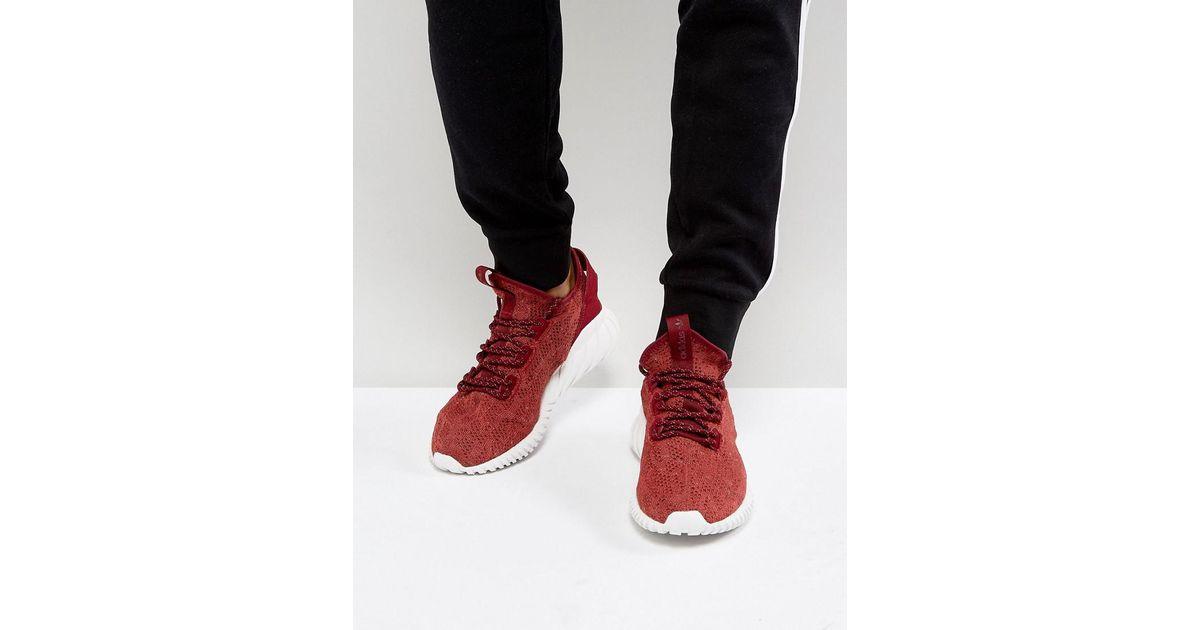 best loved c9367 4b32a Adidas Originals Tubular Doom Sock Primeknit Sneakers In Red By3560 for men