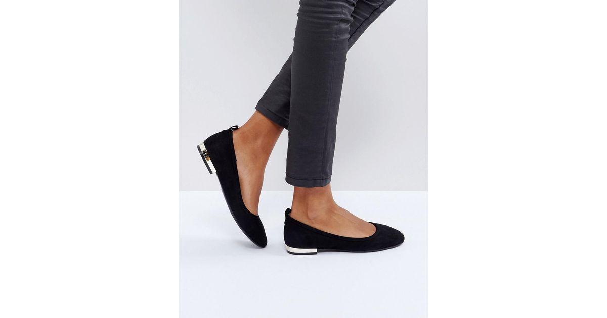 ALDO Kaye Black Ballet Flat Shoes - Lyst