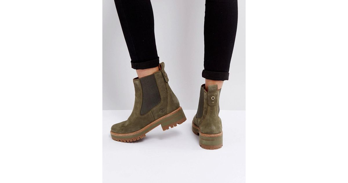 d9c66ac806e Timberland Green Courmayeur Valley Olive Chelsea Boots