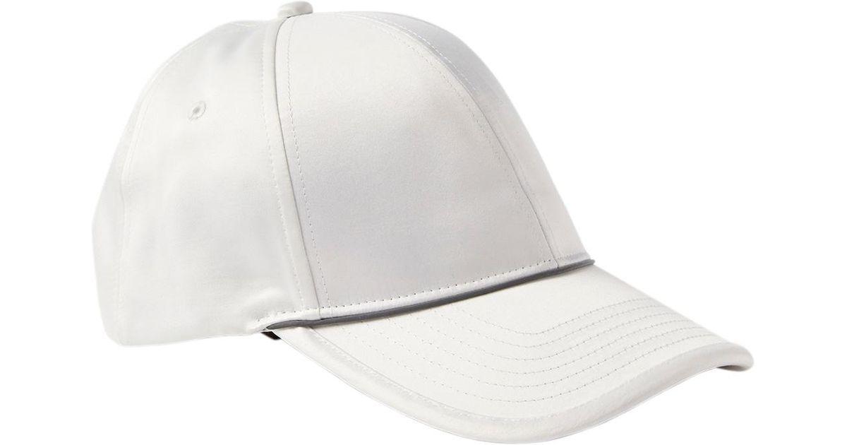 Lyst - Athleta Sport Satin Cap in White 27d81da1826