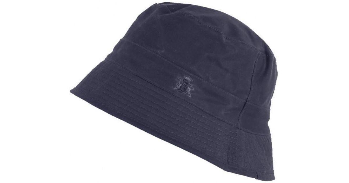 54f18533cc0a4 Baracuta Men s Made In England Oilskin Wax Bucket Hat in Blue for Men - Lyst