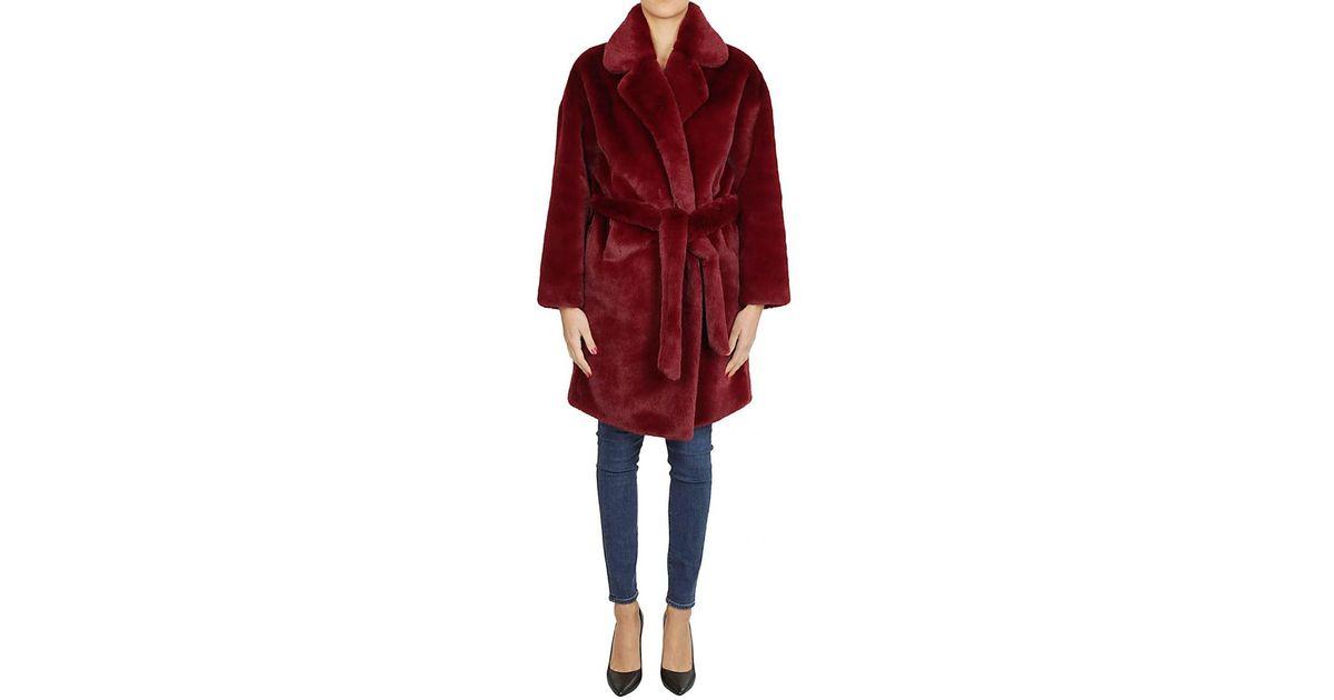 sale retailer 51746 dc756 Betta Corradi Red Cappotto Pelliccia Bordeaux