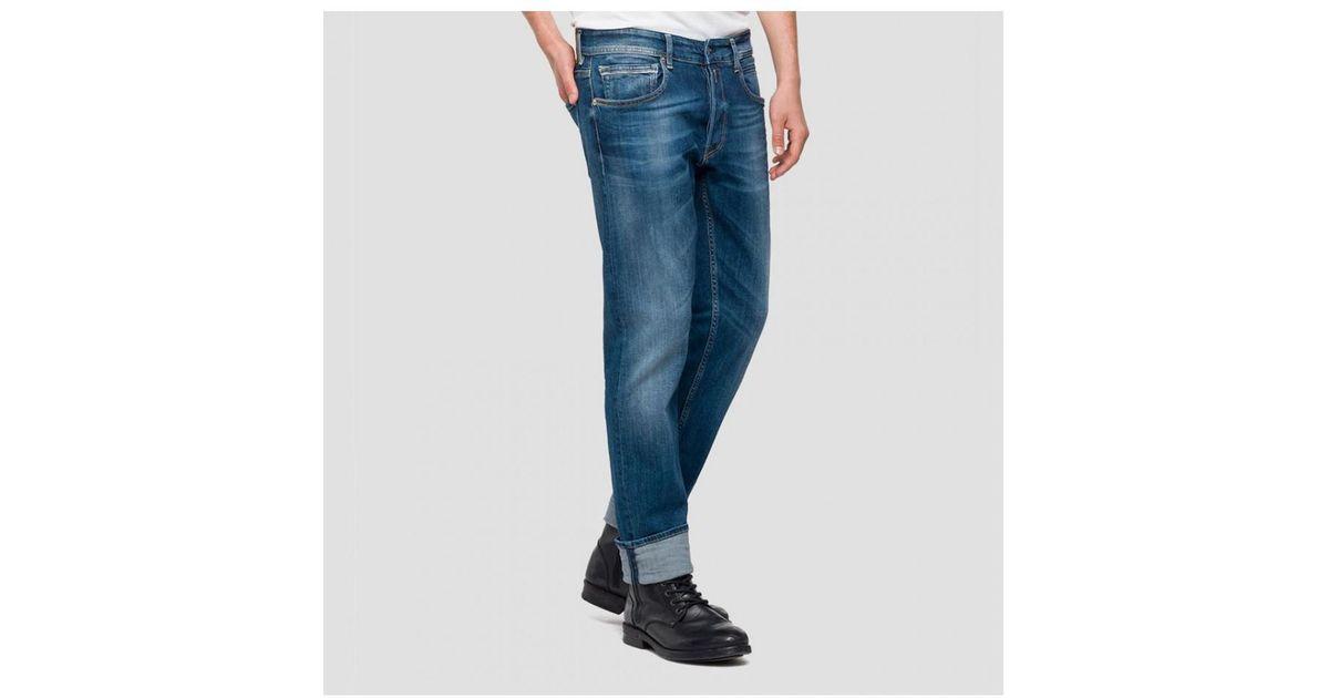 Ma972 Replay Dark Blue Grover Regular Fit Jean