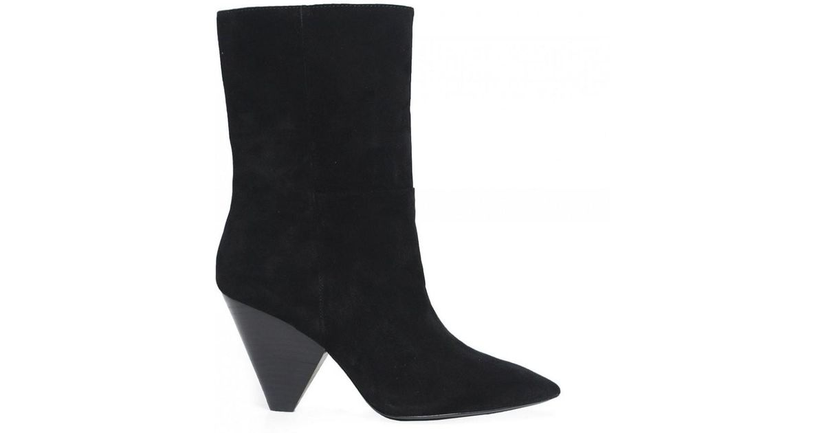 d594afe9d3b0 Lyst - Ash Doll Suede Mid Calf Boots in Black
