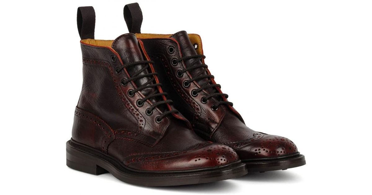 Leather Trickers Stow Boot Dainite Sole