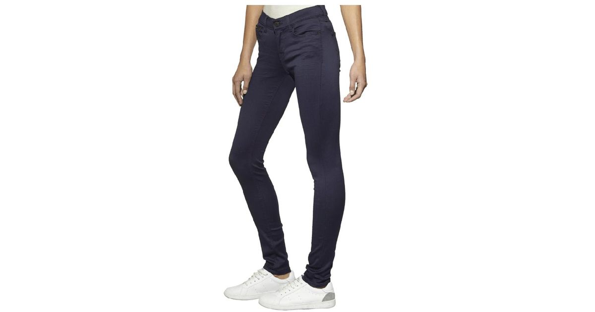 460bca40 Lyst - Tommy Hilfiger Tommy Jeans Mid Rise Skinny Nora Boogie Blue Stretch  Jeans in Blue