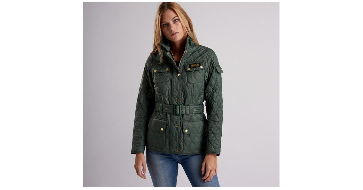 3def43ffa1b44 Barbour Women's Quilted Jacket in Green - Lyst