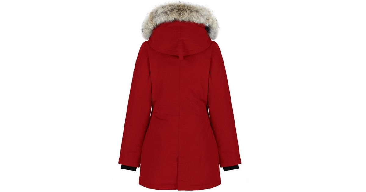 canada goose victoria parka red women's