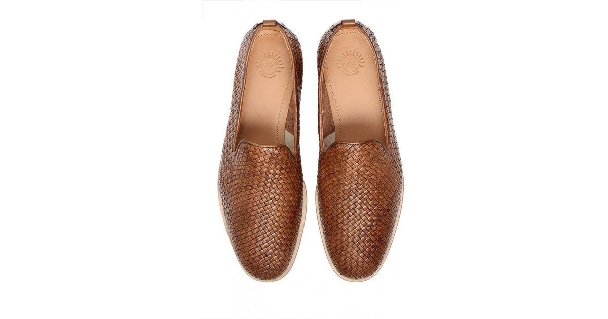 6b5d3ecc695 Lyst - H by Hudson Hudson Ipanema Tan Weave Shoes in Brown for Men