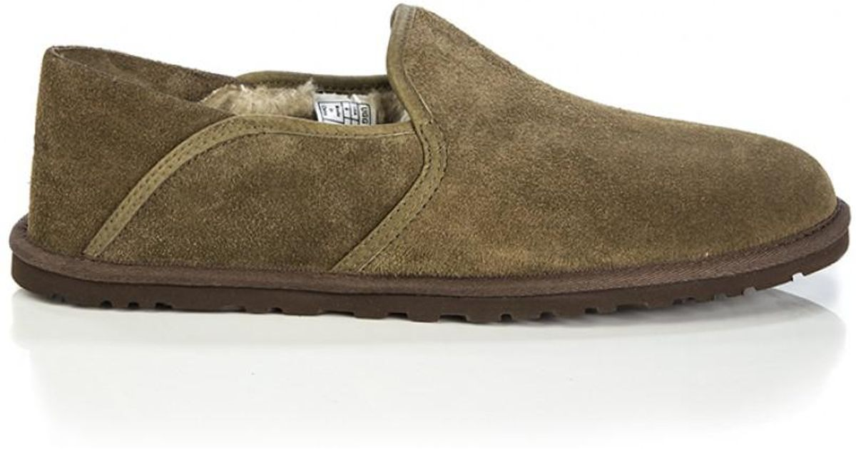 fe0b7a21833 Ugg Brown Men's Cooke Slippers With Collapsible Heel for men