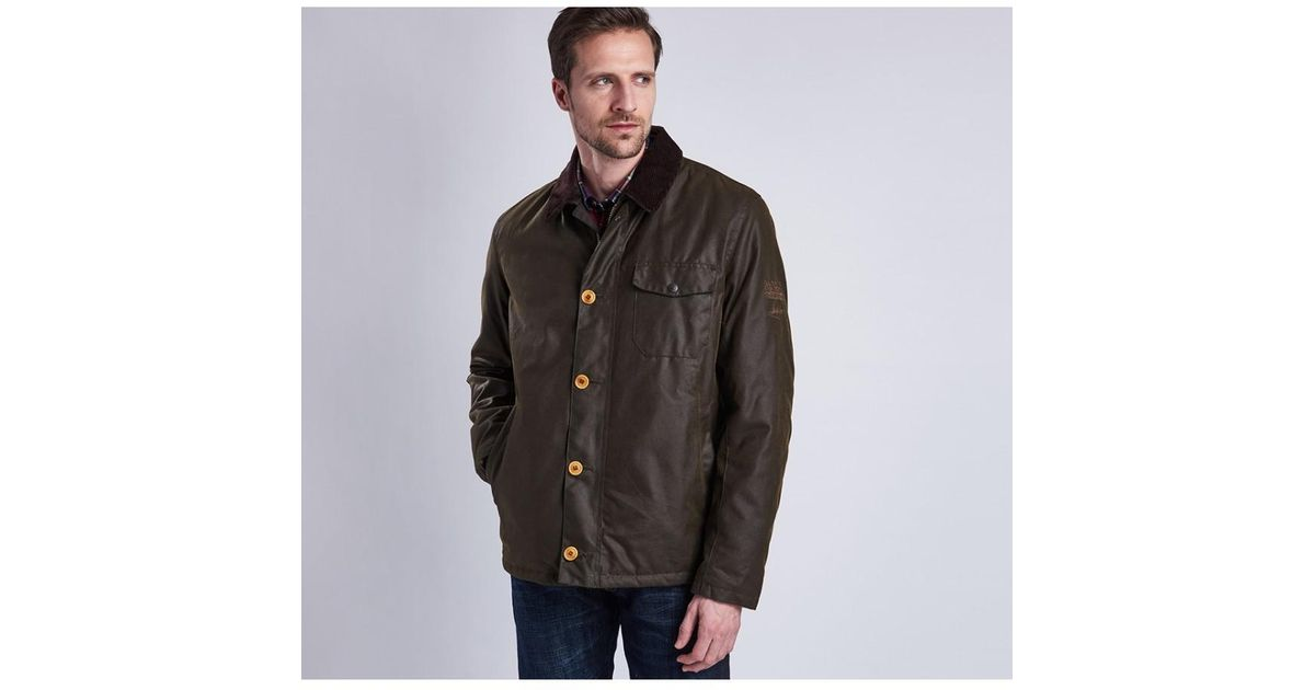 ac2fbda42e27f Barbour Green Steve Mcqueen Men's Deck Wax Jacket for men