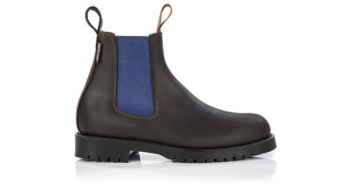 7f44384ebf0 Penelope Chilvers Women's Nelson Contrast Leather Chelsea Boots in Brown -  Lyst