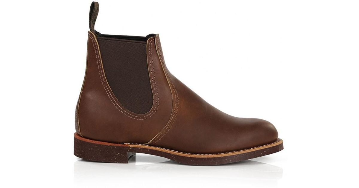084eff7d93a90 Lyst - Red Wing Shoes Men s 8201 Heritage Work Chelsea Rancher Boots in  Brown for Men