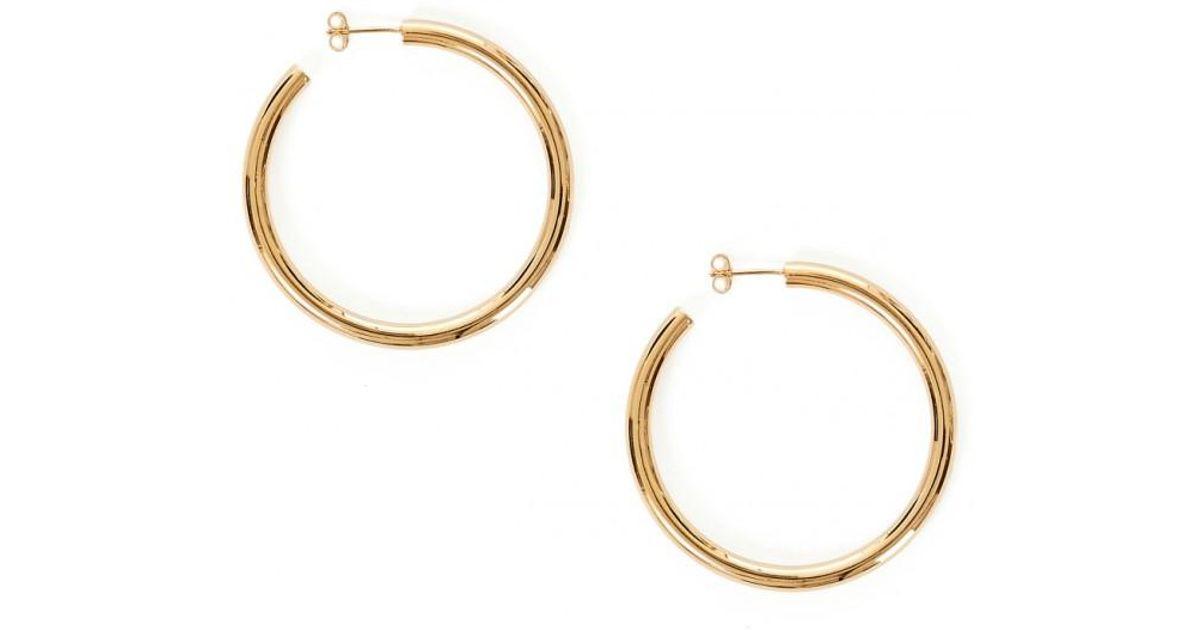 41b5554c1 Otiumberg Large Gold Hoops in Metallic - Lyst