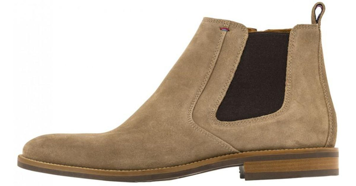 e5cd0e809ce575 Tommy Hilfiger Tommy Jeans Essential Suede Chelsea Boots in Gray for Men -  Lyst