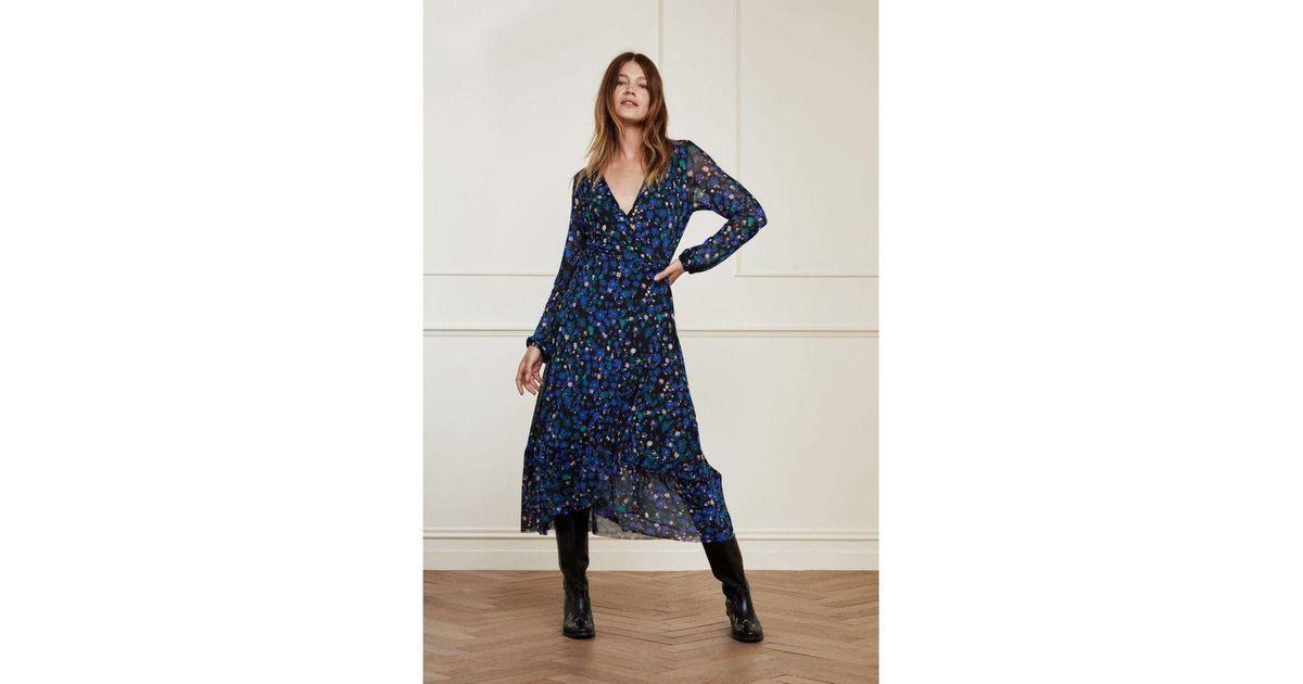 Fabienne Chapot Natasja Frill Dress Marigold Lilac Small