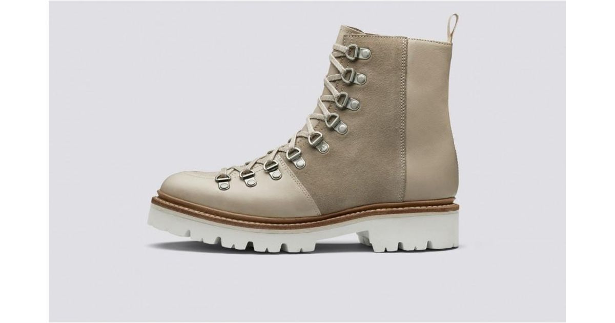cda0b2bd60f GRENSON Nanette Natural Beige Hiker Boots