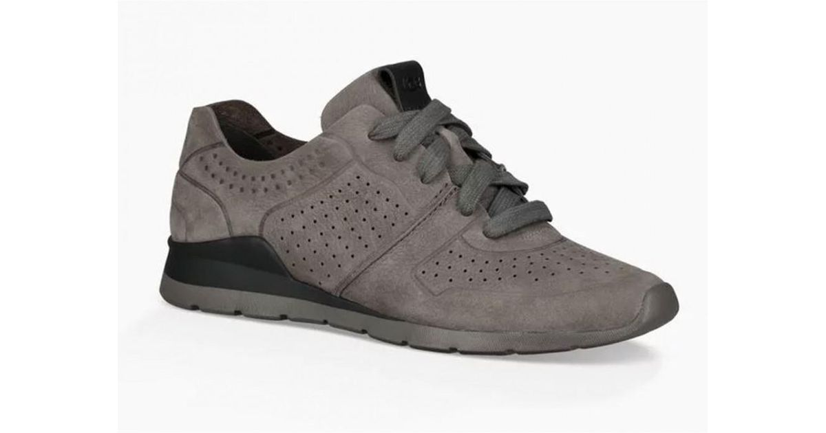 UGG Leather Tye Trainers in Grey (Gray