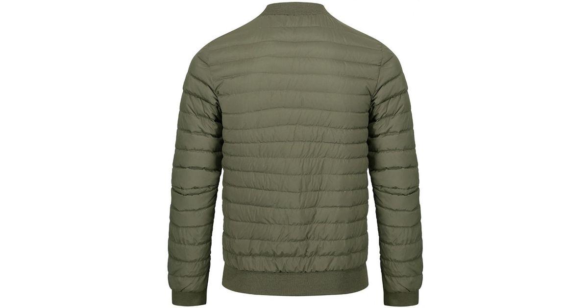 267cd6886 Pyrenex Green Men's Bruno Quilted Bomber Jacket for men