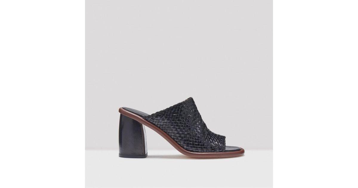 ad6d210a9e20d Lyst - Miista Rute Black Leather Mid-heels in Black