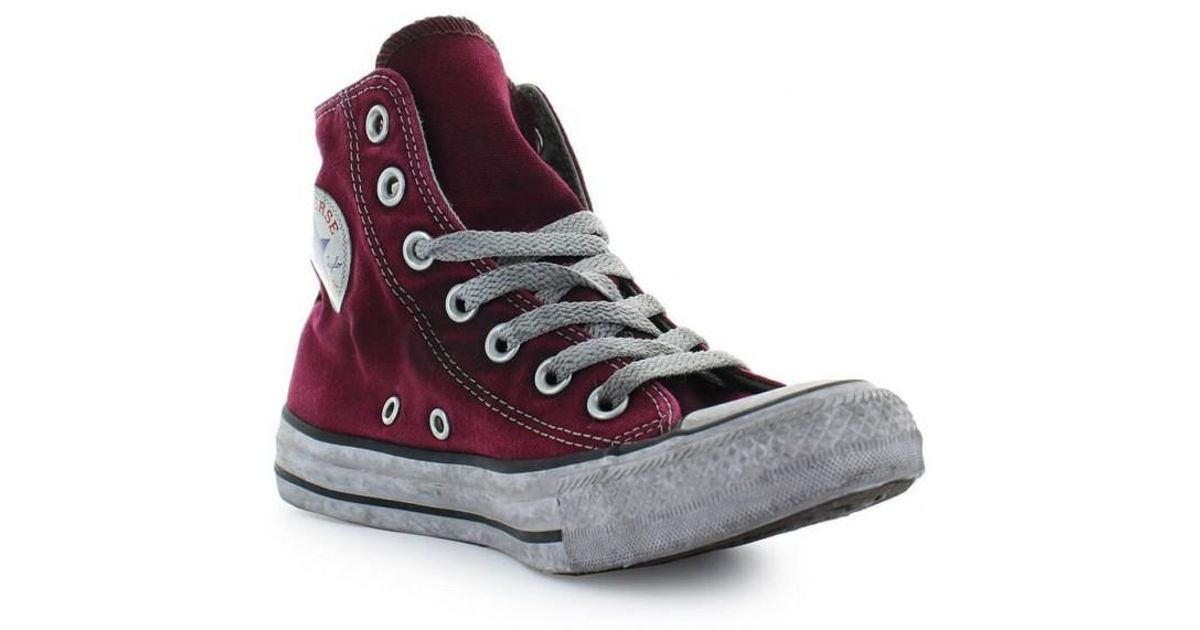 248ac48ed8c9 Lyst - Converse All Star High Canvas Maroon Chuck Taylor Sneaker Ltd Ed  Women 37 in Red