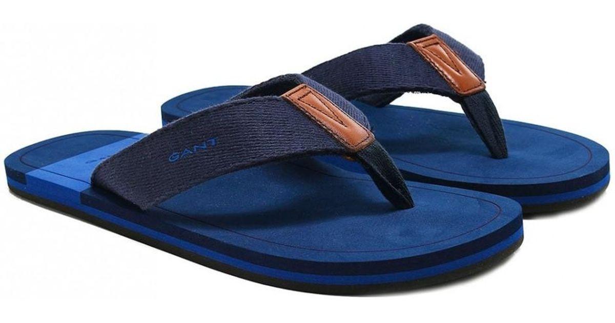 eae9a2b2346f Lyst - Gant Breeze Flip Flops in Blue for Men