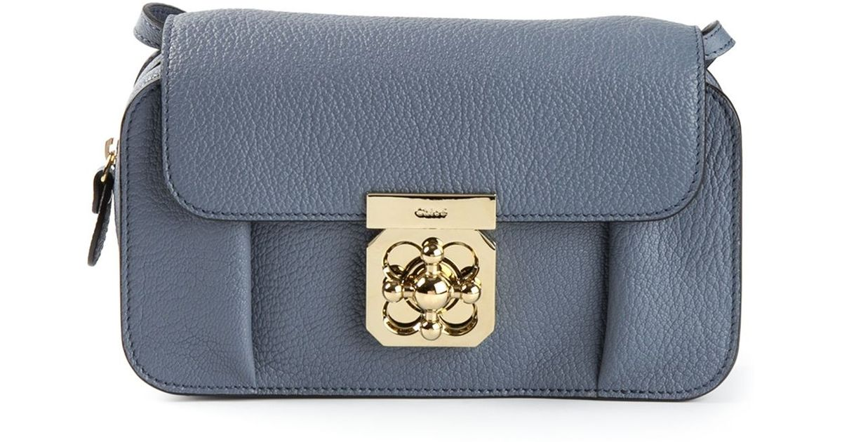 40c84d6cc Chloé 'Elsie' Cross Body Bag in Blue - Lyst