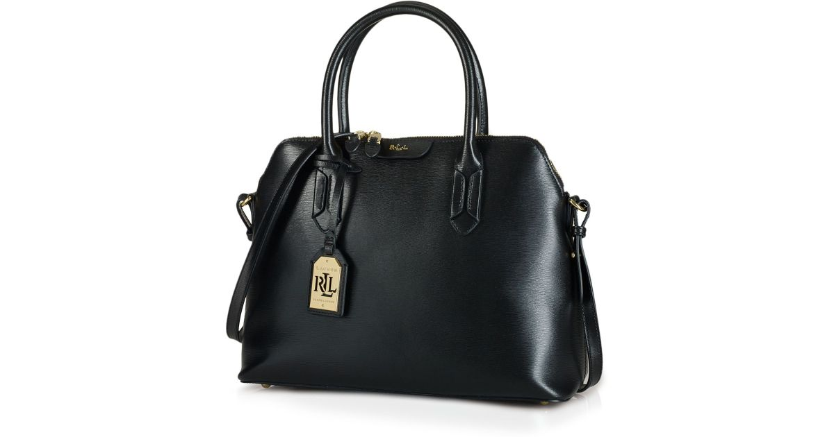 c6c32e1055 Lyst - Ralph Lauren Lauren Satchel - Tate Dome in Black